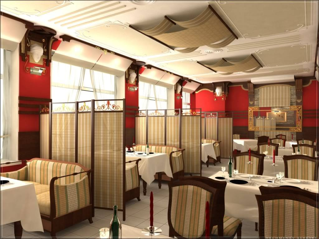 Дизайн интерьер ресторана фото